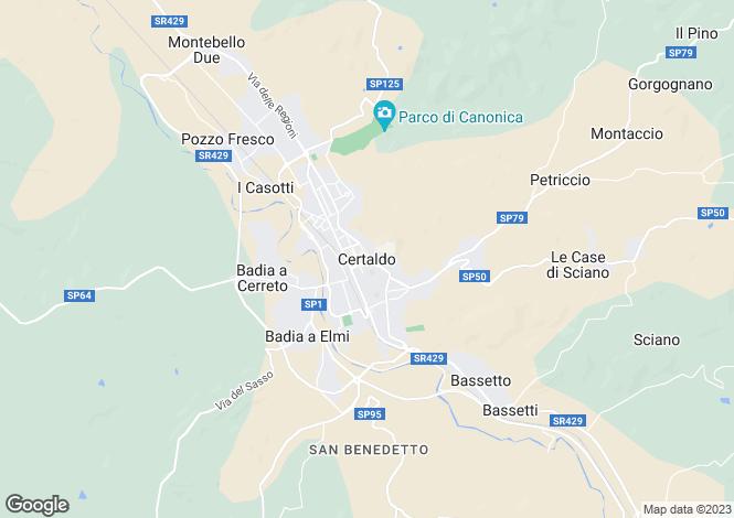Map for Tuscany, Florence, Certaldo