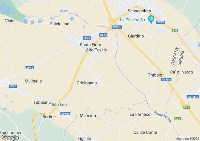 Map for Valtiberina, Arezzo, Tuscany