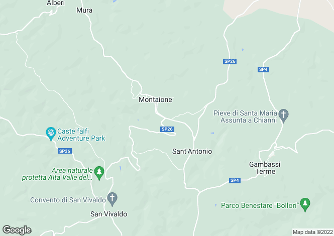 Map for Castelfarfi,Italy