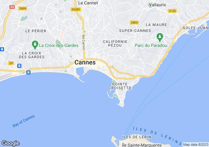 Map for Cannes, Provence-Alpes-Cote dAzur, France