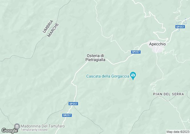Map for Apecchio, Pesaro e Urbino, Le Marche