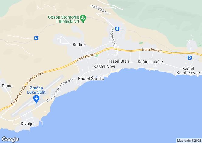 Map for Kastel Stari, Split-Dalmatia