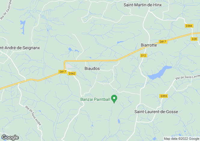 Map for BIAUDOS ,France