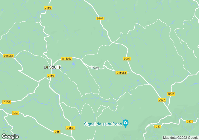 Map for Languedoc-Roussillon, Hérault, Le Soulié
