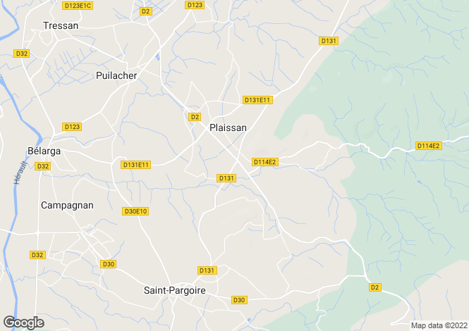 Map for plaissan, Hérault, France