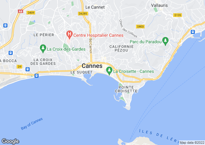Map for Luxurious Flat, Croisette, Cannes