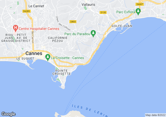 Map for Californie, Cannes, French Riviera