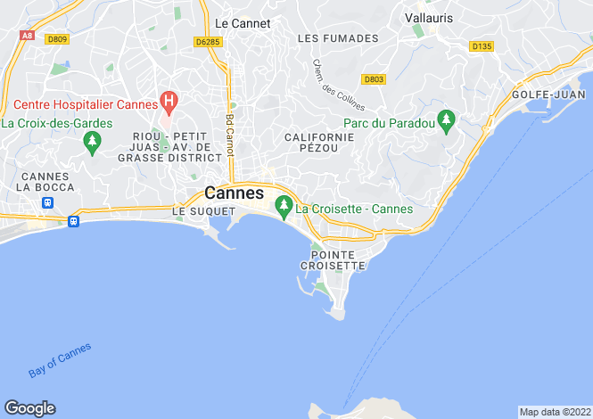 Map for Cannes Basse Californie, France