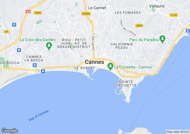 Map for Croix Des Gardes, Cannes, French Riviera