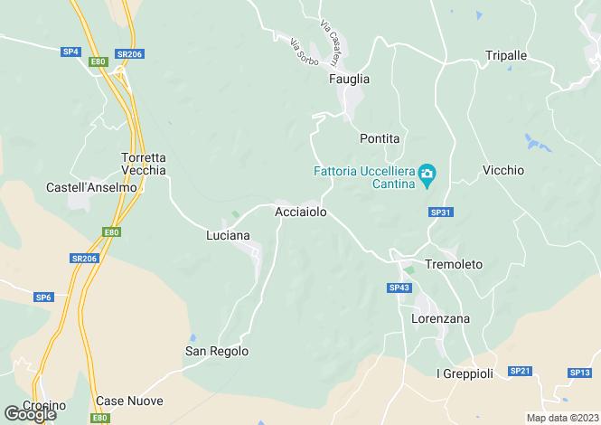 Map for Fauglia, Pisa, Italy