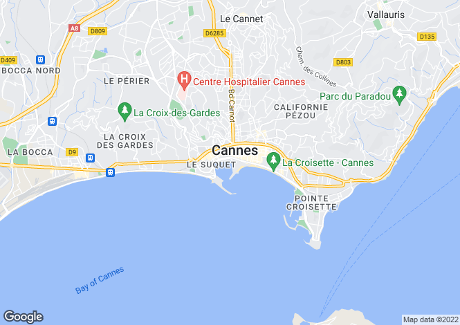 Map for Cannes Port, France