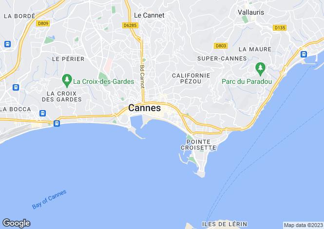 Map for Cannes Croisette, Provence-Alpes-Cote dAzur, France
