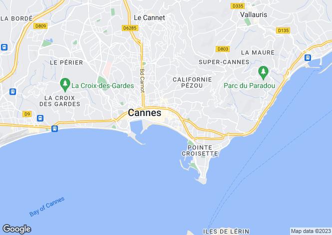 Map for Cannes Banane, Provence-Alpes-Cote dAzur, France