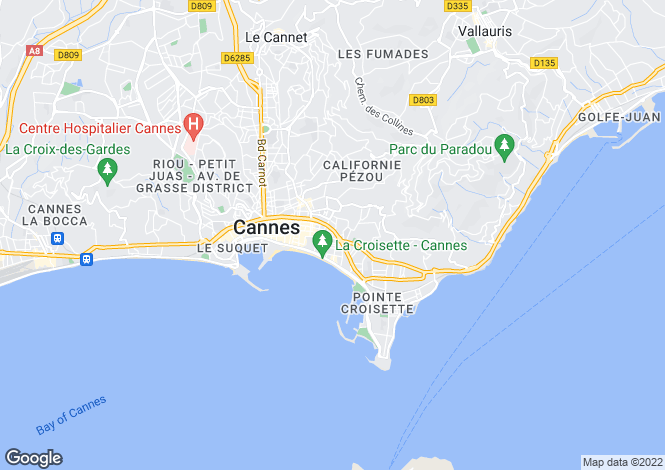 Map for Cannes Croisette, French Riviera