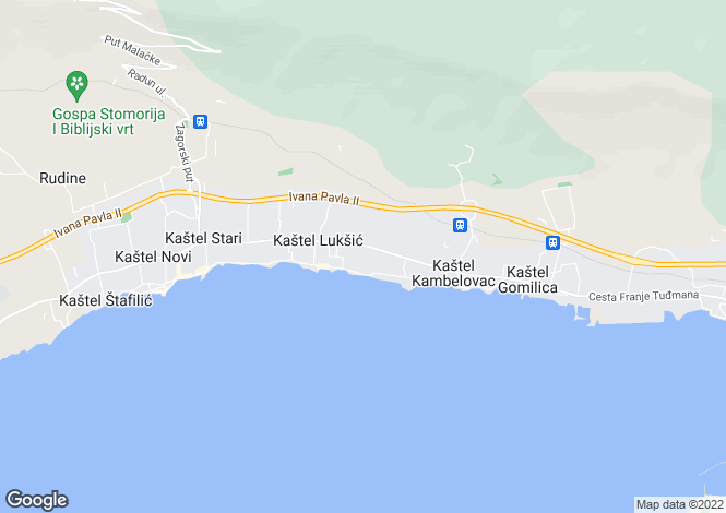 Map for Kastela, Split-Dalmatia