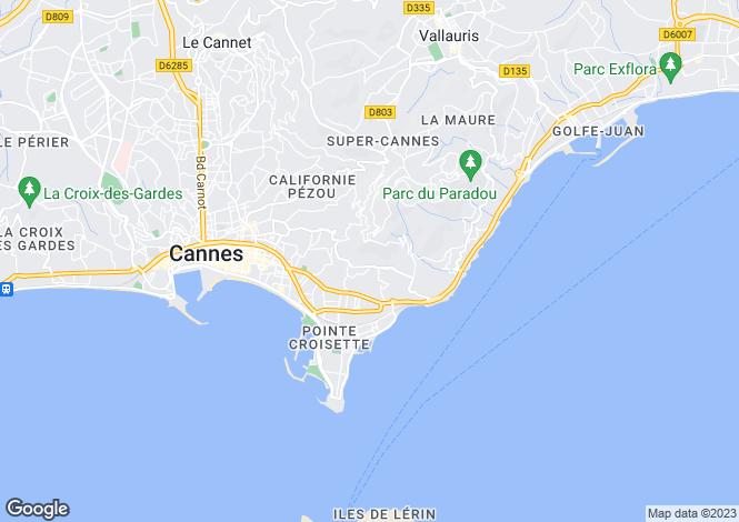 Map for Cannes, Alpes-Maritimes, Provence-Alps-Cote d`Azur