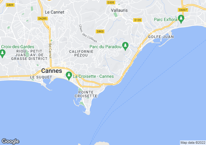 Map for Mansion In Cannes, Cannes, Alpes Maritimes