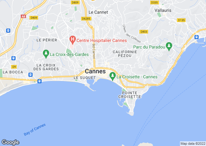 Map for Cannes Banane, France