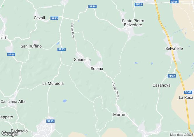 Map for Soiana, Tuscany, Italy