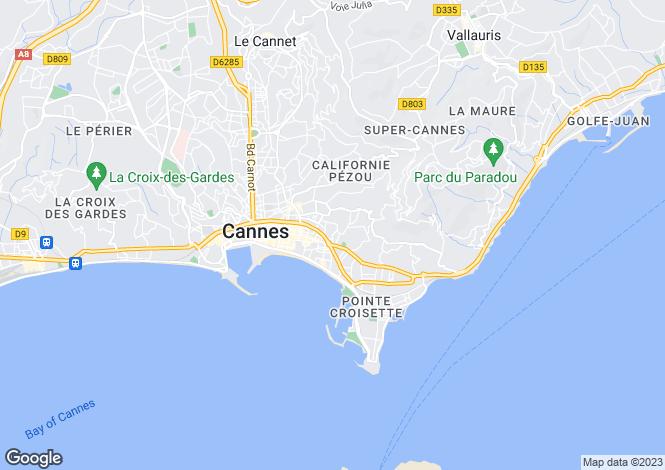 Map for Cannes Californie, Provence-Alpes-Cote dAzur, France