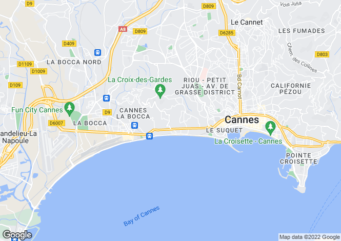 Map for Cannes-La-Bocca, France