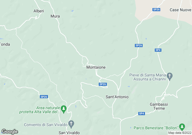 Map for Montaione, Firenze, Italy