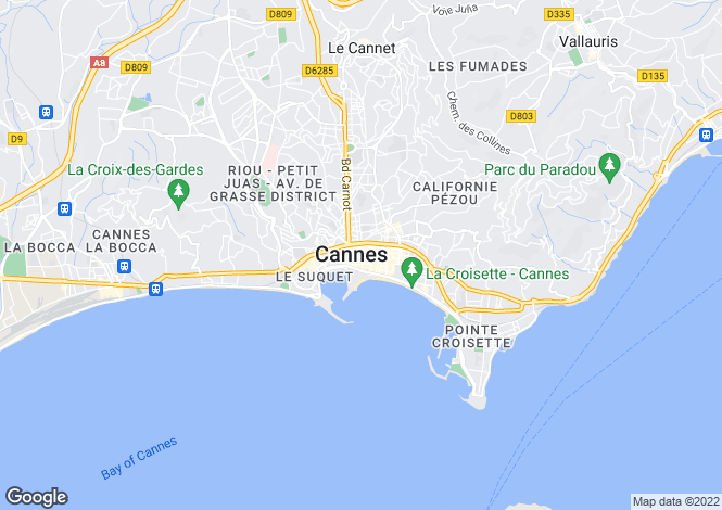 Map for Cannes, Provence-Alpes-Cote dAzur, France