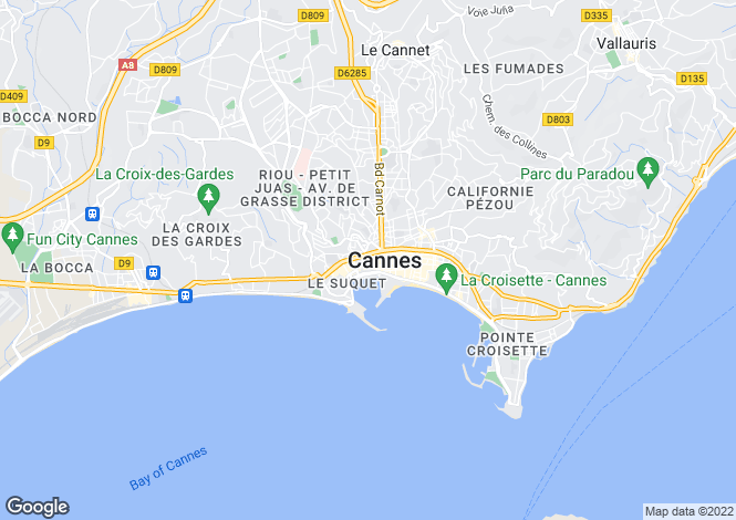 Map for Cannes, France