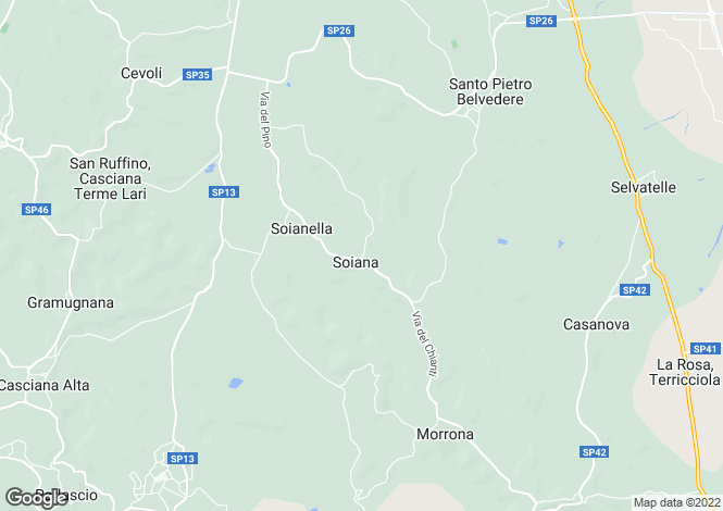 Map for Tuscany, Pisa, Pisa