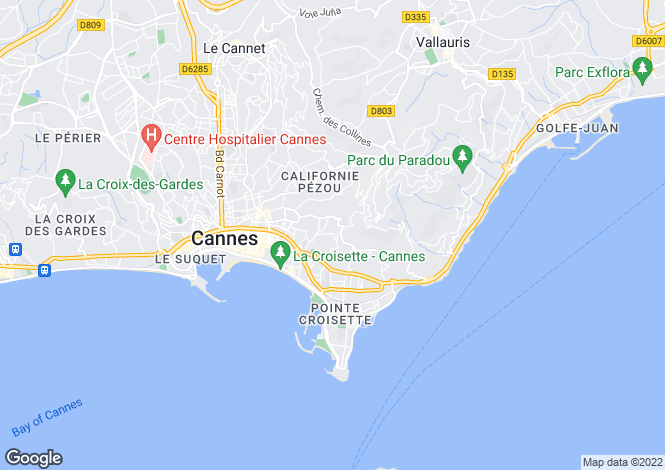 Map for Cannes, Cannes, French Riviera