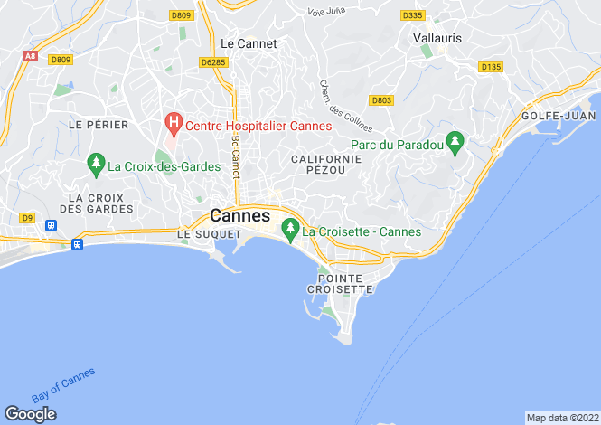 Map for Cannes Montfleury, France