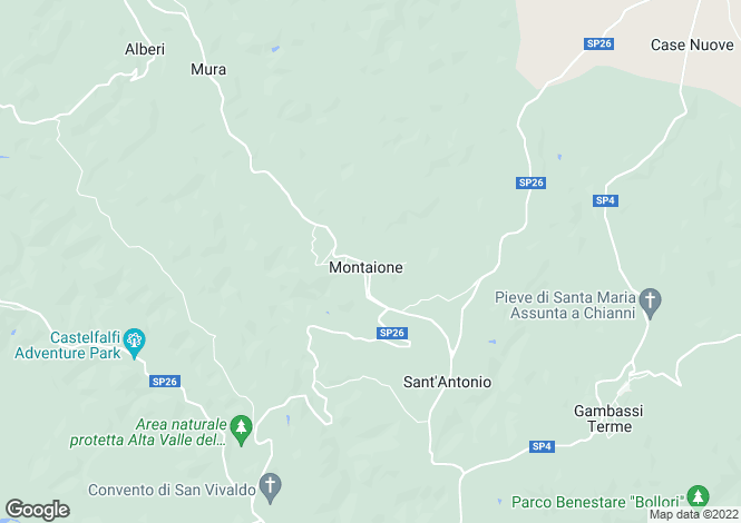 Map for Montaione, Florence, Tuscany