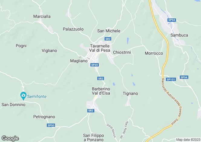 Map for Barberino Val D'Elsa, Tavarnelle Val di Pesa, Florence