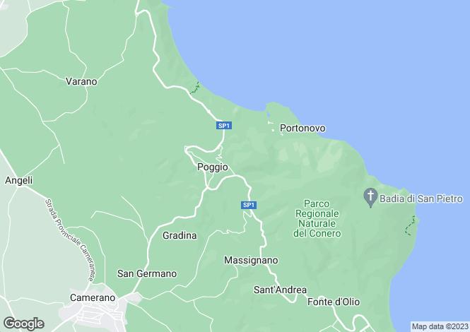 Map for Le Marche, Ancona, Ancona
