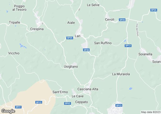 Map for Lari, Pisa, Tuscany