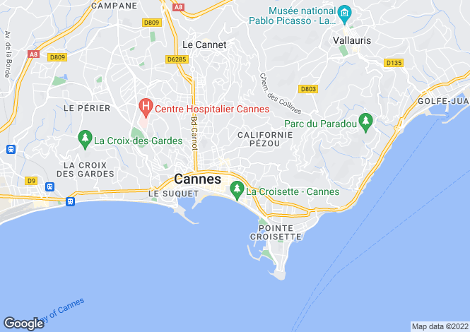 Map for Cannes Montfleury, Provence-Alpes-Cote dAzur, France