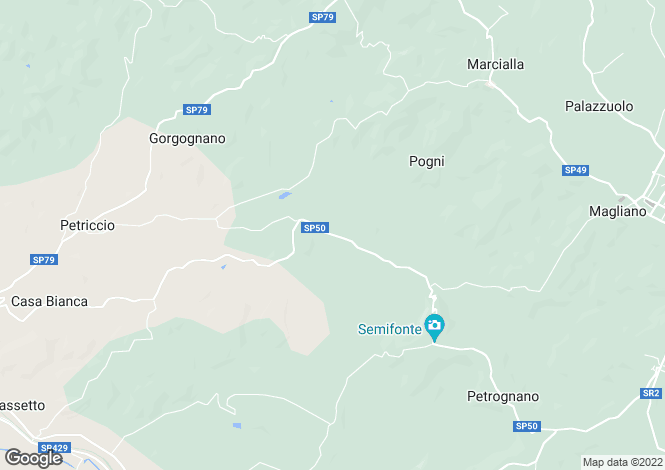 Map for Italy - Tuscany, Florence, Certaldo