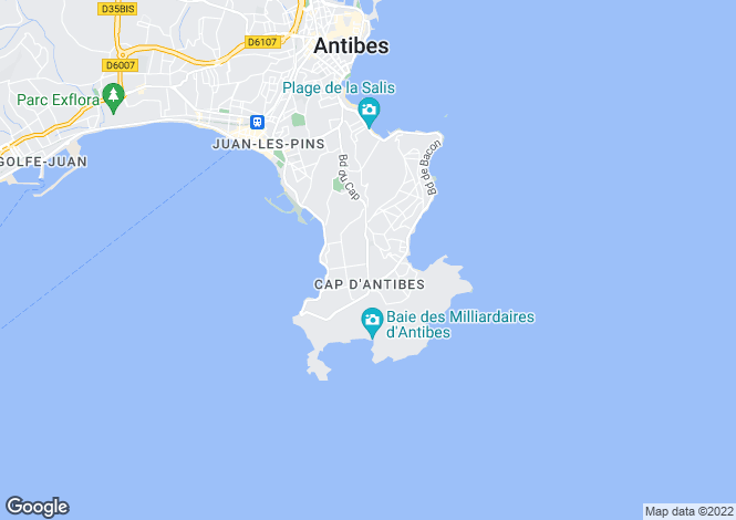Map for Juan-les-Pins (La Colle), 06160, France