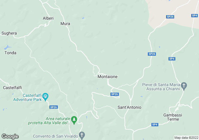 Map for Tuscany, Florence, Montaione