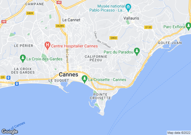 Map for La Californie, Cannes, French Riviera