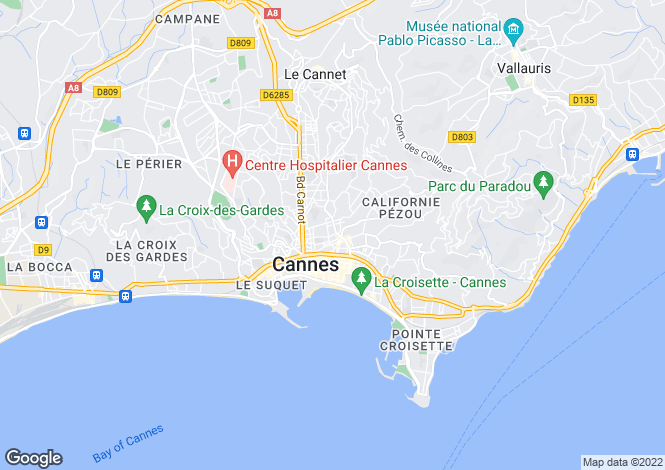 Map for Cannes (Basse Californie), 06400, France