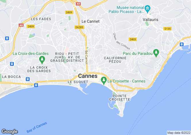 Map for Cannes (République), 06400, France