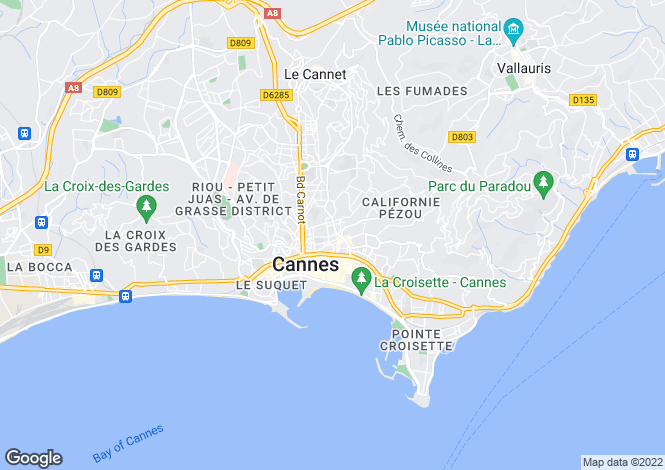 Map for Cannes (Super Cannes), 06400, France