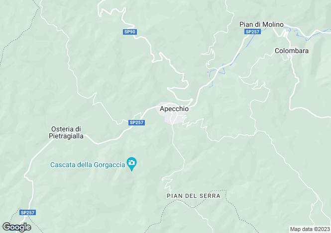 Map for Le Marche, Pesaro e Urbino, Apecchio