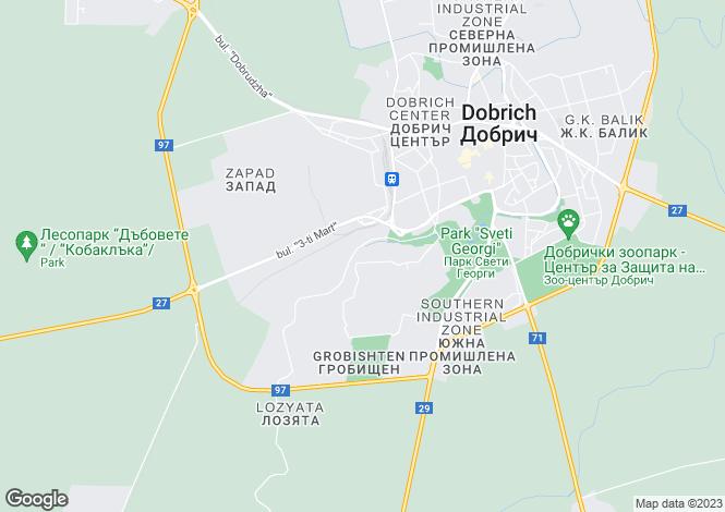 Map for Dobrich, Dobrich