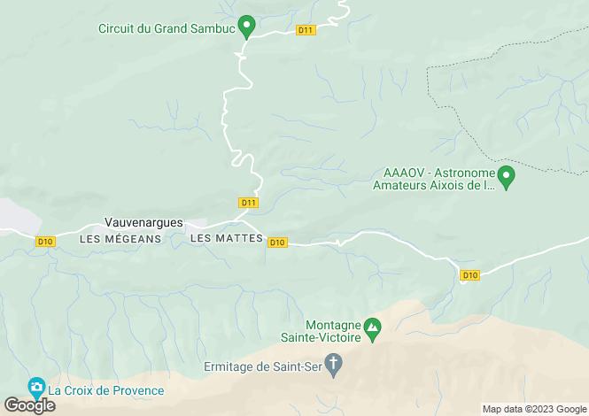 Map for VAUVENARGUES, Aix en Provence Area, Provence - Var,