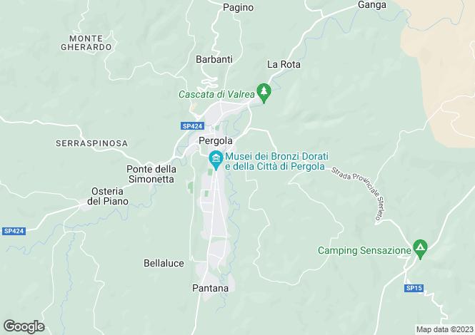 Map for Le Marche, Pesaro e Urbino, Pergola