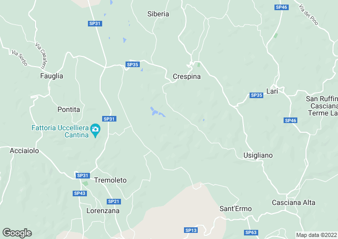 Map for Crespina, Pisa, Tuscany