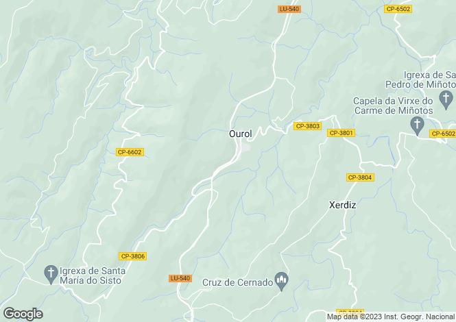 Map for Galicia, Lugo, Ourol
