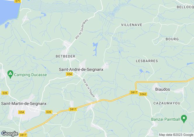 Map for st-andre-de-seignanx, Landes, France